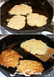 Potato Latkes / Pancakes Method